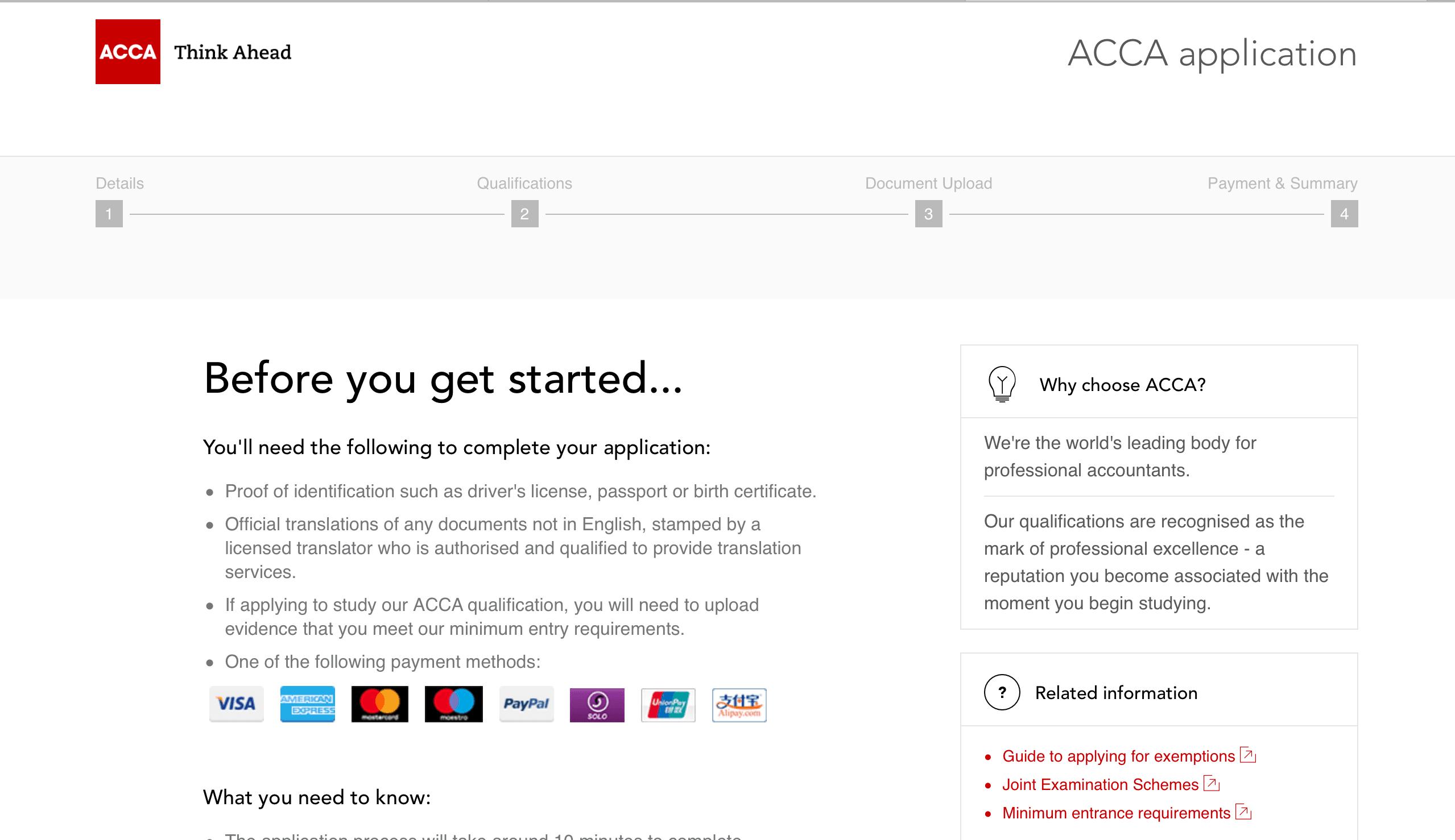 Đăng ký thi ACCA như thế nào